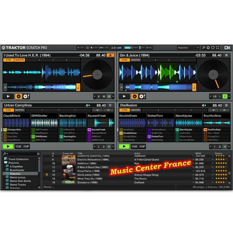 Native Instruments Traktor Scratch A10 screen écran