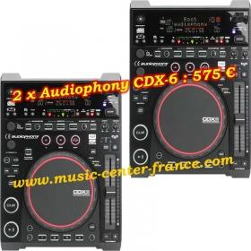 platine CD à plat Audiophony CDX-6 - pack de 2