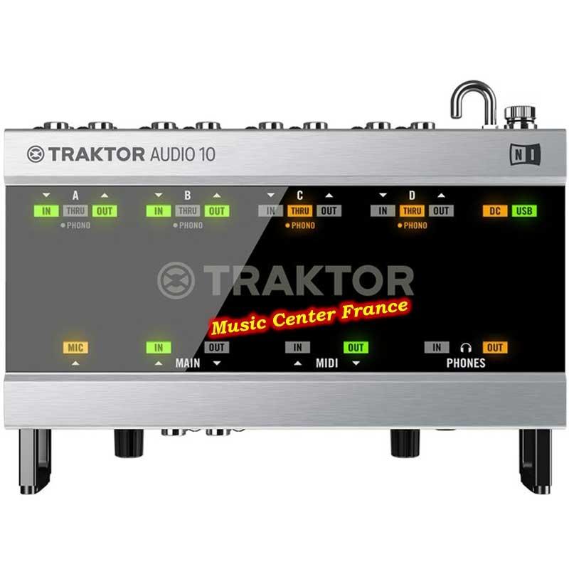Native Instruments Traktor Scratch A10 vue de dessus top