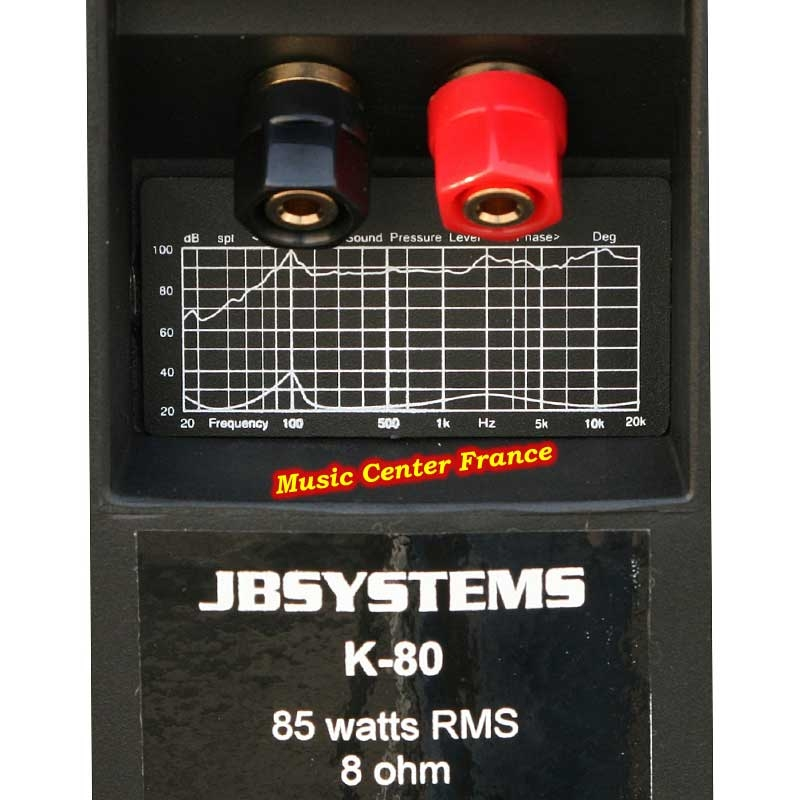 JBSystems JB Systems K80 black enceinte d'ambiance dos connectique