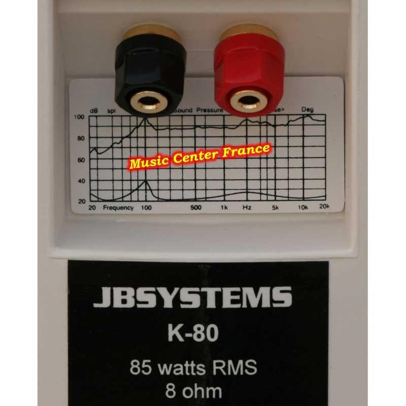 JBSystems JB Systems K80 white enceinte d'ambiance vud