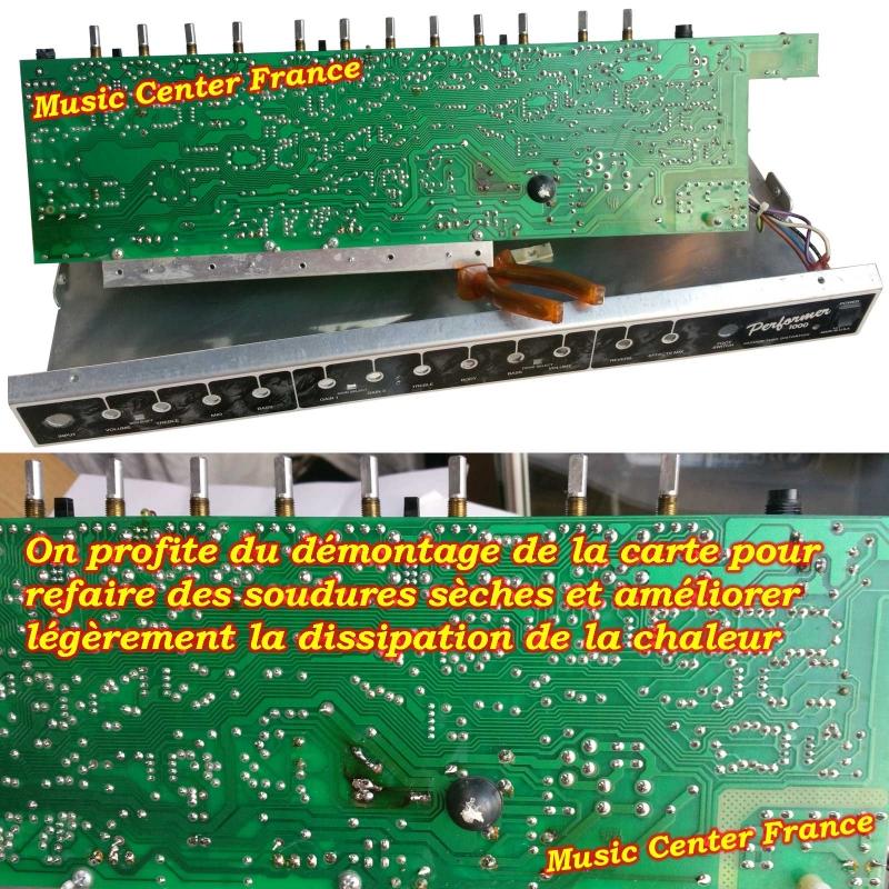 Fender Performer 1000 panne réparation sav service après vente centre technique