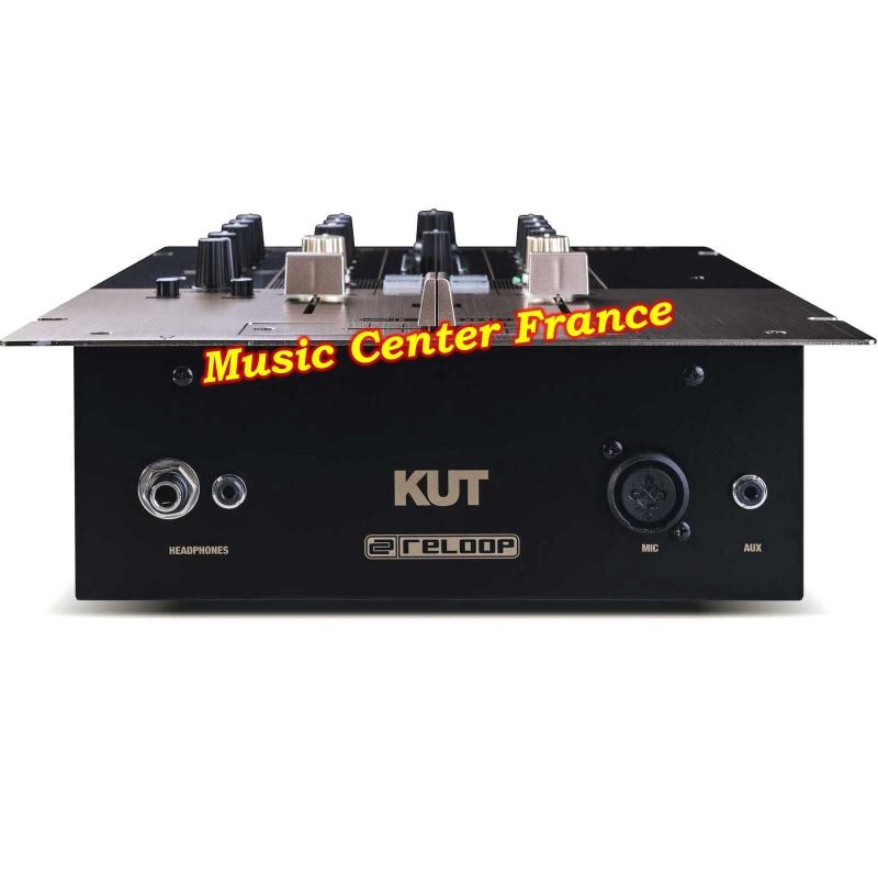 reloop kut mixer table de mixage  scratch innofader vue de face