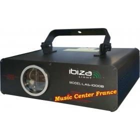 Ibiza las1000b las 1000 b laser bleu 1 w 1000 mW DMX ILDA vue de droite