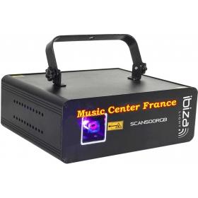 Ibiza SCAN 500 RGB SCAN500RGB laser rouge vert bleu vue gauche