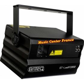 briteq laser 2000 rgb 2 w DMX ILDA vue de gauche