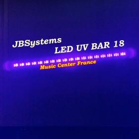 JBSystems JB Systems led uv bar 18 - projecteur 18 led uv de 3 w effet nuit