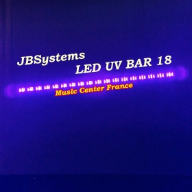 JBSystems JB Systems led uv bar 18 - projecteur 18 led uv de 3 w effet nuit