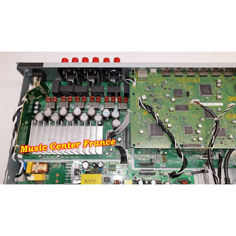 ampli tuner Pioneer VSXS510S VSX-S510S VSX-S510 S vue sur l'alimentation et l'ampli de sortie panne réparation sav