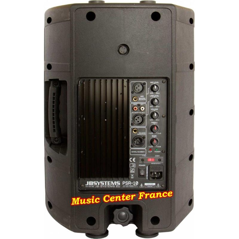 JBSystems JB Systems PSA10 PSA 10 enceinte amplifiée de 25 cm et d'une puissance de 160 w RMS totale - vue de dos