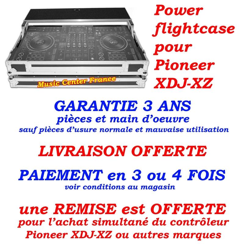 flightcase avec plateau PC mac Power pour contrôleur numérique Pioneer XDJ-XZ pas cher pub promo music center france shop