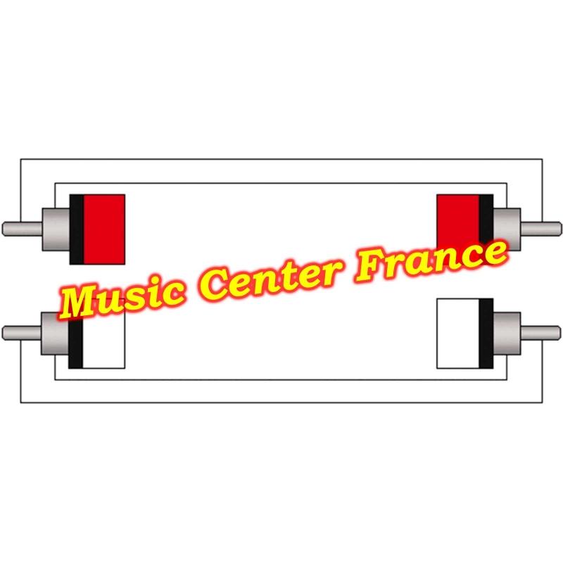 procab cab800 cab 800 cordon cable 2 rca male vers 2 rca male schema music center france