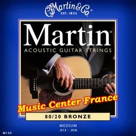 Martin M150 M150F corde de guitare série standard bronze boîte de 6 cordes Music Center France
