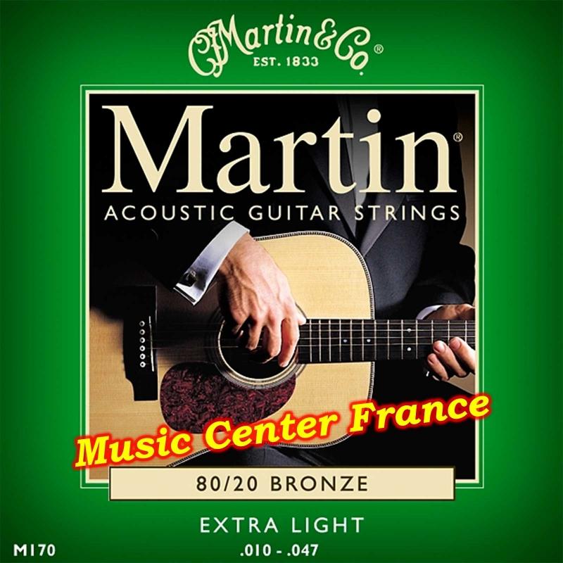 Martin M170 M170F corde de guitare série standard bronze boîte de 6 cordes Music Center France