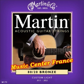 Martin M175 M175F corde de guitare série standard bronze boîte de 6 cordes Music Center France
