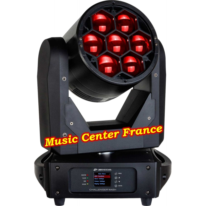 JBSystems JB Systems challenger wash code B05539 5539 red rouge Music Center France