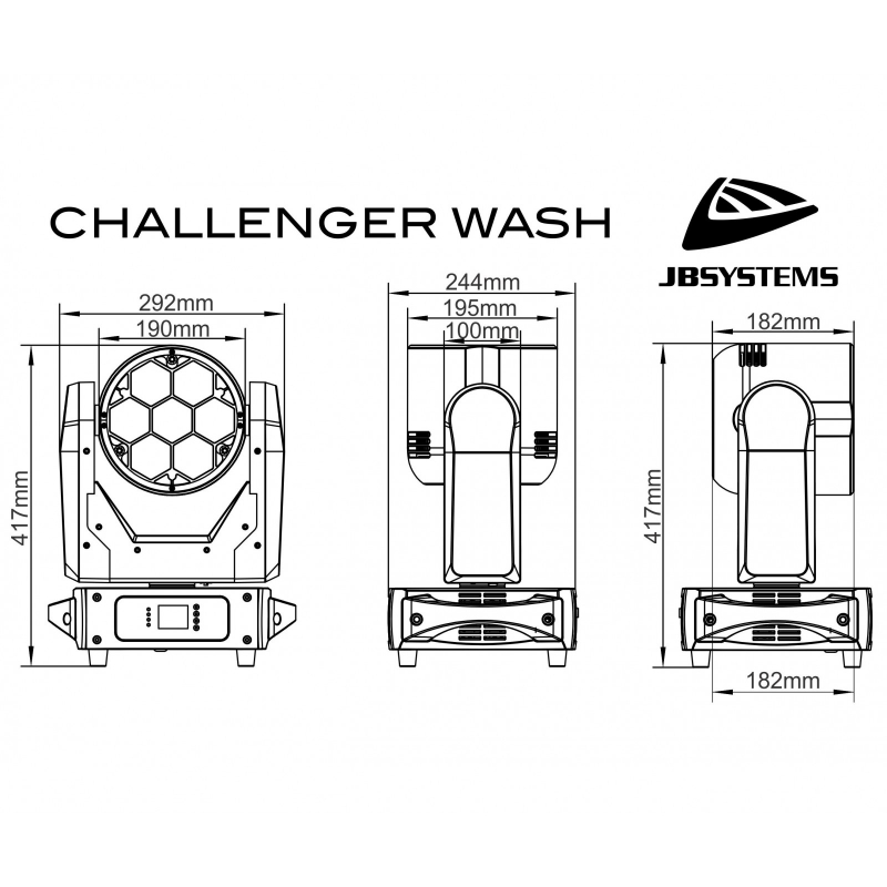 JBSystems JB Systems challenger wash code B05539 5539 dimensions Music Center France