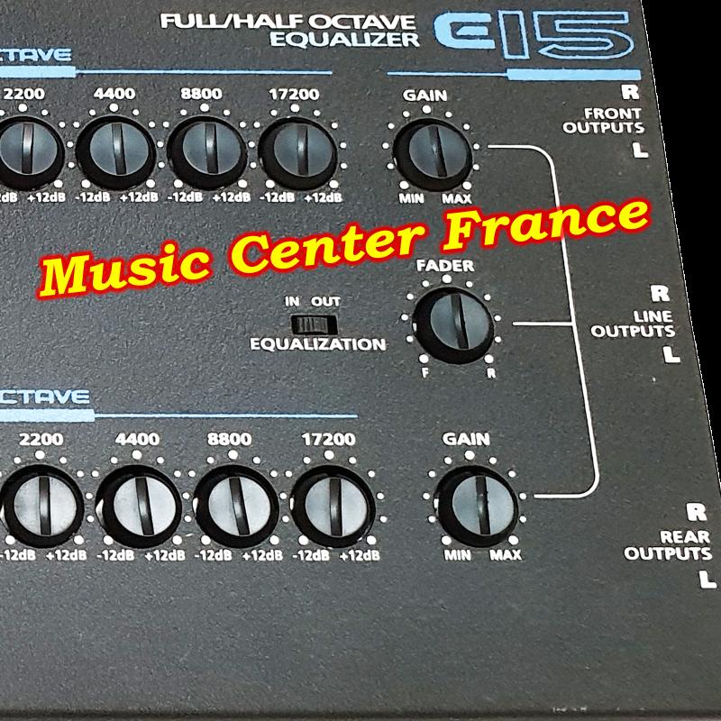 Lanzar  égaliseur encore e15 détail des sorties Music Center France