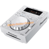 Pioneer CDJ350 CDJ350w CDJ 350 W white blanc blanche platine cd à plat vue droite