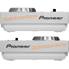 Pioneer CDJ350 CDJ350w CDJ 350 W white blanc blanche platine cd à plat vue côté