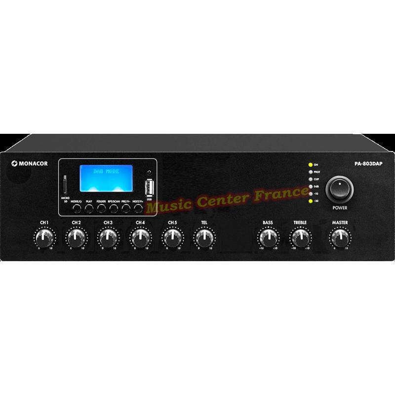 Monacor PA-803 DAP PA803 DAP PA 803 ampli amplificateur 100 v 30 w vue de face