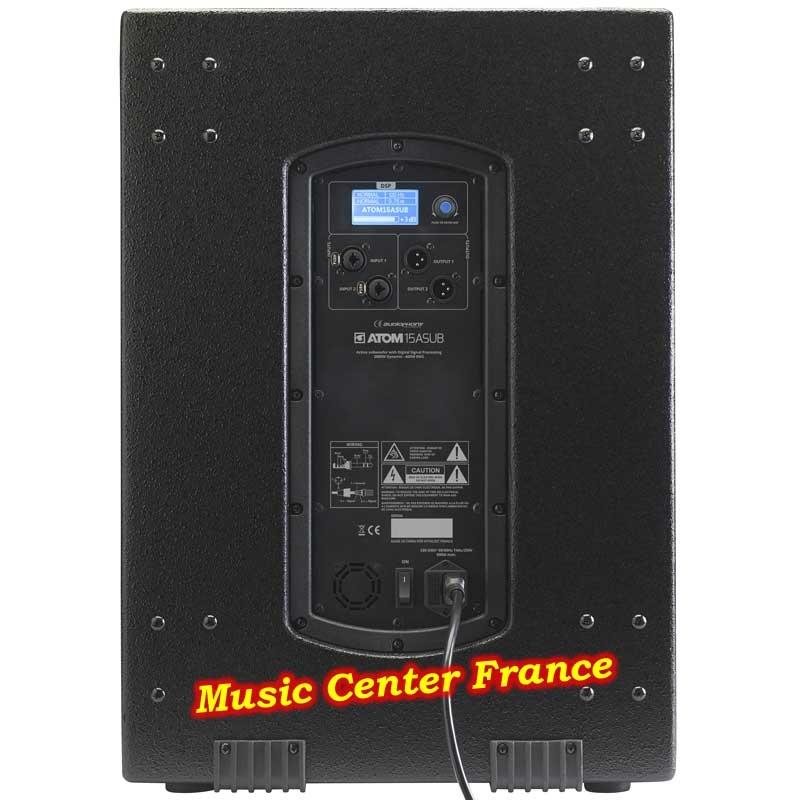 Audiophony ATOM15ASUB caisson de basses arrière dos w800